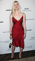 WEST HOLLYWOOD, CA, USA - APRIL 08: Elle Fanning at the Marie Claire Fresh Faces Party Celebrating May Cover Stars held at Soho House on April 8, 2014 in West Hollywood, California, United States. (Photo by Celebrity Monitor)