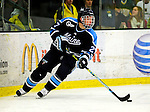 29 January 2010: University of Maine Black Bears' defenseman Will O'Neill, a Sophomore from Salem, MA, in second period action against the University of Vermont Catamounts at Gutterson Fieldhouse in Burlington, Vermont. The Black Bears defeated the Catamounts 6-3 in the first game of their America East weekend series. Mandatory Credit: Ed Wolfstein Photo