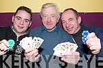 Poker Aces: Players in the Athea Horse and Pony Club Poker Classics games in The Gables Bar, Athea, on Sunday evening were Darren Kelly, Tom Finn and Tom Carroll..