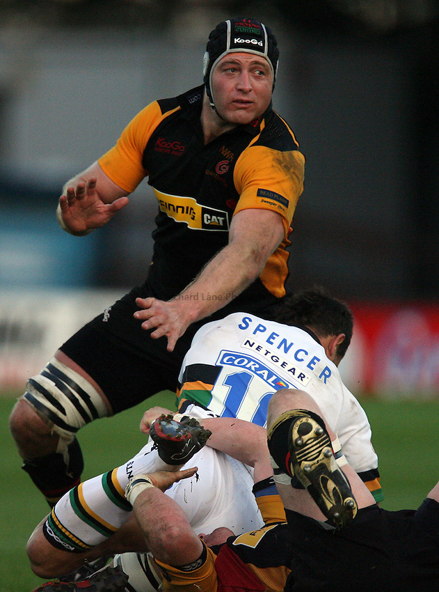 Photo: Rich Eaton..Newport Gwent Dragons v Northampton Saints. EDF Anglo-Welsh Cup. 07/10/2006. .Damien Browne of Dragons.