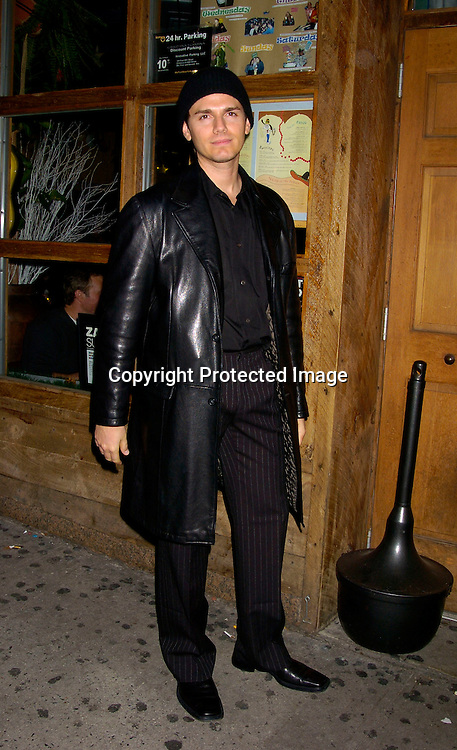 Paul Anthony Stewart ..at the Guiding Light 2003 Christmas Party at Calico Jacks in ..New York City on December 12, 2003. Photo by Robin Platzer, Twin Images