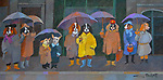 Acrylic on Canvas/Dog Park Friends<br />
