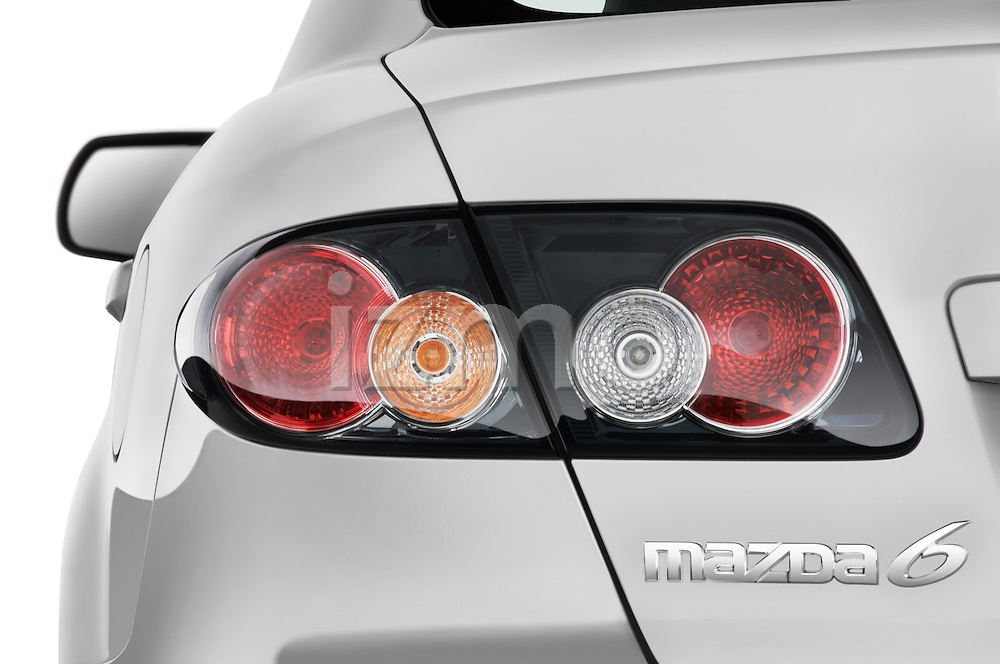 Tail light close up detail view of a 2008 Mazda 6 Sport Sedan