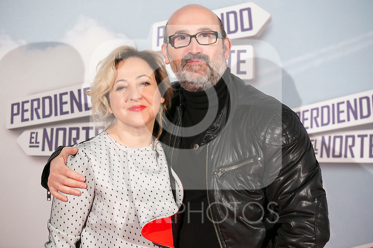 "JAvier Camara and Carmen Machi attend the ""Perdiendo El Norte"" Movie Premiere at Capitol Cinema, Madrid,  Spain. March 05, 2015.(ALTERPHOTOS/)Carlos Dafonte)"