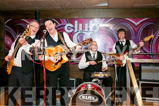 Entertaining at the Irish Red Cross Tea Party to mark  World Red Cross Day at the Grand Hotel on Sunday were 'The Real Deal'  Rob Quinlan, Fergus O'Sullivan, Kieran Sheehy and Andrew Moran