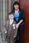 Jack Martin who made his First Communion at St. Mary's Church on Saturday 16th May, pictured with mum Cheryl Dyas.