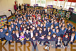 Rose of Tralee Clare Kambamettu visited Balloonagh Primary School on Tuesday morning to launch their book week.
