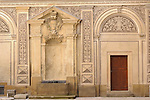 The inner courtyard at Schwarzenberksy Palace, near the Prague Castle in Prague, Czech Republic.