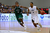 LEEK - Basketbal, Donar - Le Portel, Europe Cup, seizoen 2017-2018, 18-10-2017,  Donar speler Jason Dourisseau met Le Portel speler Chukwudinma Odiakosa