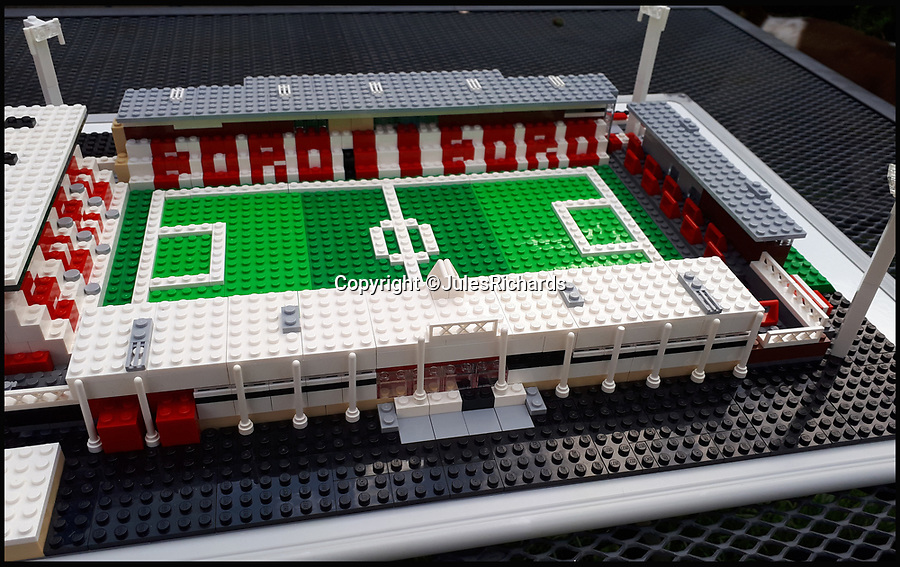 BNPS.co.uk (01202 558833)<br /> Pic: JulesRichards/BNPS<br /> <br /> Stevenage's Broadhall Way.<br /> <br /> Here lego, here lego, here lego...<br /> <br /> A supermarket manager is building all 92 Football League grounds out of Lego.<br /> <br /> Jules Richards built his first stadium out of Lego he found in his loft one afternoon 18 months ago and he is now over two thirds of the way to completing all 92 Premier League, Championship, League One and League Two grounds.<br /> <br /> The 44 year-old spends up to 12 hours on each stadium and uses on average 1,300 Lego blocks to make them look uncannily similar to the real thing.