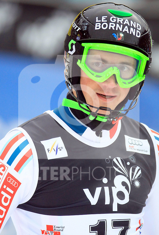 06.01.2011., Sljeme, Zagreb, Croatia - FIS Ski World Cup, Snow Queen Trophy, men slalom race, 1st run..Steve Missillier.Photo: Zeljko Lukunic/                                                                                                  Foto:   nph / PIXSELL