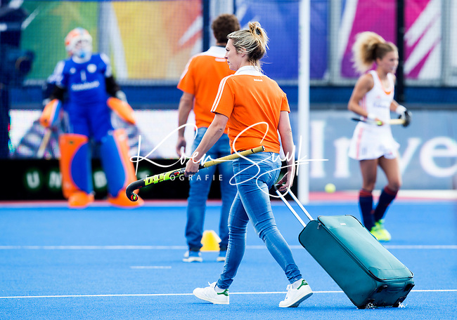 LONDON -  Unibet Eurohockey Championships 2015 in  London. Netherlands v Belgium . Manager Femke Kooijman (Neth).  Copyright  KOEN SUYK
