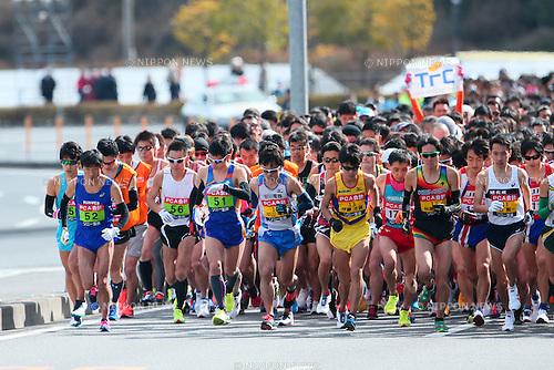 General view, <br /> FEBRUARY 7, 2016 - Marathon : <br /> The 65th Beppu Oita Mainichi Marathon<br /> in Oita, Japan. <br /> (Photo by Yohei Osada/AFLO SPORT)