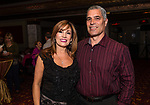 WATERBURY, CT. 18 May 2018-051818BS19 - From left, Pamela Molee of Watertown, and Jim Taylor of Prospect pose for a photo on Friday evening for the Palace's Annual Big Fundraiser. Bill Shettle Republican-American