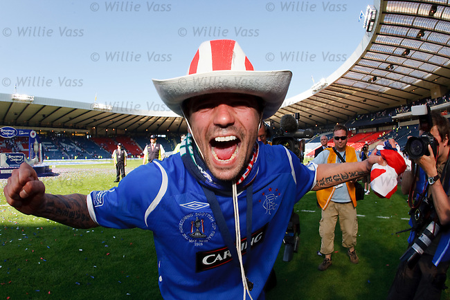 Nacho Novo celebrates after the match