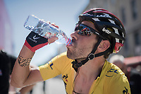 yellow jersey / GC leader Thomas de Gendt (BEL/Lotto-Soudal) at the finish on M&acirc;con<br /> <br /> Stage 5: La Tour-de-Salvagny &rsaquo; M&acirc;con (175km)<br /> 69th Crit&eacute;rium du Dauphin&eacute; 2017