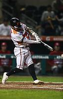 Jorge Flores, durante juego de beisbol de la Liga Mexicana del Pacifico temporada 2017 2018. Tercer juego de la serie de playoffs entre Mayos de Navojoa vs Naranjeros. 04Enero2018. (Foto: Luis Gutierrez /NortePhoto.com)