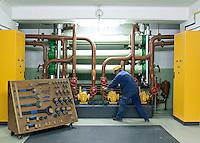 Industrie, Instrumente, Drehzahlmesser, Röhren, Arbeiter, Werkzeuge