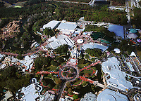 aerial photograph, Disney's Magic Kingdom, Disney, theme park, Orlando, Florida