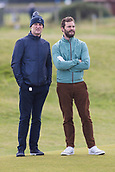 5th October 2017, The Old Course, St Andrews, Scotland; Alfred Dunhill Links Championship, first round; Jamie Dornan on the edge of the green