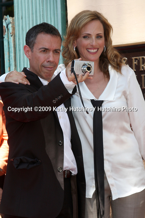 Jack Jason & Marlee Matlin  attending the Hollywood Walk of Fame Ceremony for Marlee Matlin on Hollywood Boulevard in Los Angeles, CA  on May 6, 2009.©2009 Kathy Hutchins / Hutchins Photo....                .