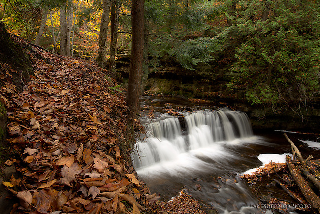 mosquito falls autumn, pictured rocks