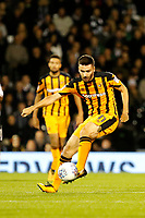 Jon Toral of Hull City plays the ball during the Sky Bet Championship match between Fulham and Hull City at Craven Cottage, London, England on 13 September 2017. Photo by Carlton Myrie.