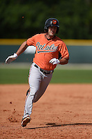 Outfielder Lucas Herbst (37) of the Baltimore Orioles organization during a minor league spring training camp day game on March 23, 2014 at Buck O'Neil Complex in Sarasota, Florida.  (Mike Janes/Four Seam Images)