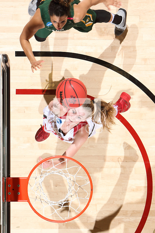 STANFORD, CA - March 19, 2016: Stanford Cardinal vs. the USF Dons in the first round of the NCAA Women's Basketball Tournament at Maples Pavilion. Stanford won the game 85-58.