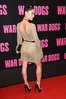 """Cally Jane Beech<br /> arrives for the """"War Dogs"""" premiere at the Picturehouse Central, London.<br /> <br /> <br /> ©Ash Knotek  D3144  11/08/2016"""
