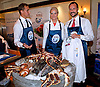 """Jakarta, 2012-11-26: CROWN PRINCESS METTE-MARIT AND CROWN PRINCE HAAKON OF NORWAY.visit a Norwegian seafood promotion, where they had a masterclass instructed by chef Geir Skeie..The Royal couple are on a tour of Indonesia.Mandatory Credit Photo: ©NEWSPIX INTERNATIONAL..**ALL FEES PAYABLE TO: """"NEWSPIX INTERNATIONAL""""**..IMMEDIATE CONFIRMATION OF USAGE REQUIRED:.Newspix International, 31 Chinnery Hill, Bishop's Stortford, ENGLAND CM23 3PS.Tel:+441279 324672  ; Fax: +441279656877.Mobile:  07775681153.e-mail: info@newspixinternational.co.uk"""