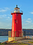 The one and only Little Red Lighthouse, located at the base of the George Washington Bridge