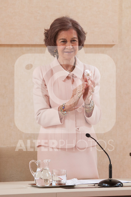 Queen Sofia of Spain attends the Mapfre Foundation Social Awards ceremony at Mapfre Campus in Madrid, Spain. May 20, 2014. (ALTERPHOTOS/Victor Blanco)
