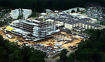 Aerial view of construction at Tallahassee Community Hospital in Tallahassee, Florida on April 17th 2002.    (Mark Wallheiser/TallahasseeStock.com)