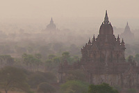 Sunrise at Shesandaw Temple, Bagan, Myanmar, Burma.