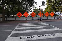 WASHINGTON D.C. - JUNE 27: View of Black Lives Matters Plaza in Advance of Another Busy Weekend in Washington D.C. on June 27, 2020. <br /> CAP/MPI43<br /> ©MPI43/Capital Pictures