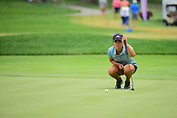 Danielle Kang (USA) lines up her putt on 17 during Friday's round 2 of the 2017 KPMG Women's PGA Championship, at Olympia Fields Country Club, Olympia Fields, Illinois. 6/30/2017.<br /> Picture: Golffile | Ken Murray<br /> <br /> <br /> All photo usage must carry mandatory copyright credit (&copy; Golffile | Ken Murray)
