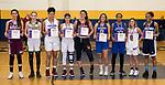 WATERBURY,  CT-021819JS30-  Members of the All-NVL  Team, from left, Sara Macary-Naugatuck; Alyssa Hebb-Holy Cross; Jade Udoh-St-Paul; Janessa Gonzalez-St. Paul; Jordyn Forte-Watertown; Sydnie Drezek-Seymour; Tiahna Pulliam-Crosby; Aamya Rivera-Sacred Heart and Liz Wilson-Ansonia. <br /> Jim Shannon Republican American