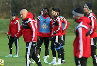 Pictured: Bafetimbi Gomis (C LEFT) and Jordi Amat (C RIGHT) Wednesday 10 December 2014<br />