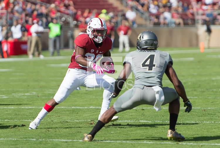 Stanford, CA - October 22, 2016: The Stanford Cardinal vs the Colorado Buffaloes at Stanford Stadium. Final score Stanford 5, Colorado Buffaloes 10.