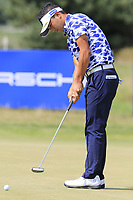 Daisuke Kataoka (JPN) putts on the 16th green during Saturday's Round 3 of the Porsche European Open 2018 held at Green Eagle Golf Courses, Hamburg Germany. 28th July 2018.<br /> Picture: Eoin Clarke | Golffile<br /> <br /> <br /> All photos usage must carry mandatory copyright credit (&copy; Golffile | Eoin Clarke)