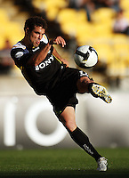 Daniel shoots for goal during the A-League match between Wellington Phoenix and Newcastle Jets at Westpac Stadium, Wellington, New Zealand on Sunday, 4 January 2009. Photo: Dave Lintott / lintottphoto.co.nz