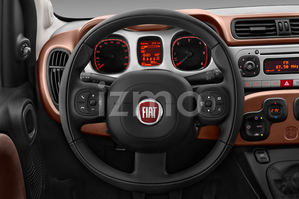 Car pictures of steering wheel view of a 2017 Fiat Panda Cross 5 Door SUV Steering Wheel