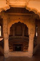 ARCHITECTURE OF A JAIN TEMPLE, JAISALMER OUTSKIRTS, RAJASTHAN