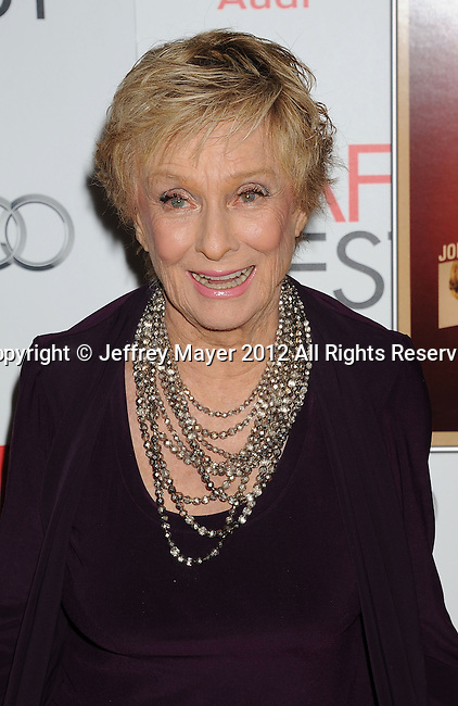 HOLLYWOOD, CA - NOVEMBER 01: Cloris Leachman arrives at the opening night gala premiere of 'Hitchcock' during the 2012 AFI FEST at Grauman's Chinese Theatre on November 1, 2012 in Hollywood, California.