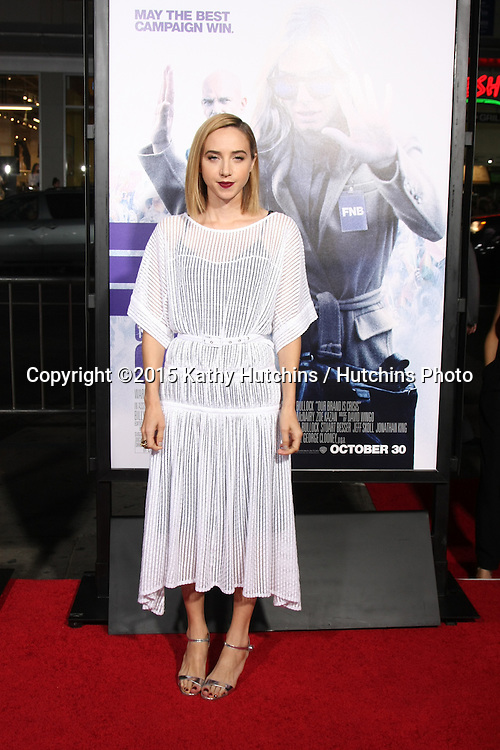 """LOS ANGELES - OCT 26:  Zoe Kazan at the """"Our Brand is Crisis"""" LA Premiere at the TCL Chinese Theater on October 26, 2015 in Los Angeles, CA"""