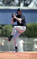 Chicago White Sox pitcher Jack McDowell during spring training circa 1991 at Chain of Lakes Park in Winter Haven, Florida.  (MJA/Four Seam Images)