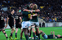 during the Rugby Championship match between the New Zealand All Blacks and South Africa Springboks at Westpac Stadium in Wellington, New Zealand on Saturday, 15 September 2018. Photo: Dave Lintott / lintottphoto.co.nz
