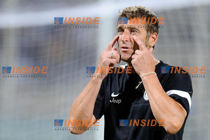 Massimo Carrera, sostituisce l'allenatore in panchina..04/08/2012 Salerno.Football Calcio 2012 / 2013 .Amichevole / Friendly match .Juventus vs Malaga  2-0.Foto Insidefoto / Antonietta Baldassarre.