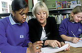 Literacy coordinator at Kidbroke School, South London, with Year 7 pupils.